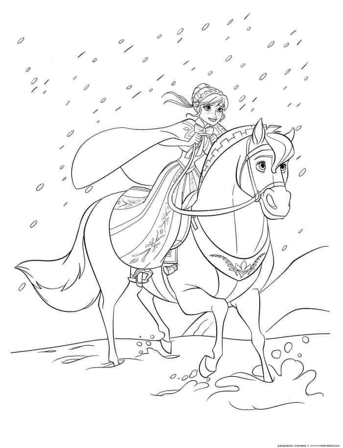 Princess Horse Coloring Pages Horse Coloring Pages Frozen Coloring Pages Disney Coloring Pages