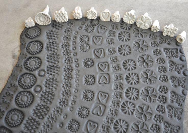 Gomma Handmade Francobolli per timbri di argilla di chARiTyelise