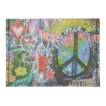 Live Upside Down Peace Sign Wall Tyvek® Card Walle