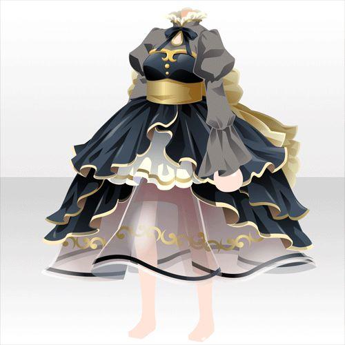 上半身/インナー 茶器のドレスA黒