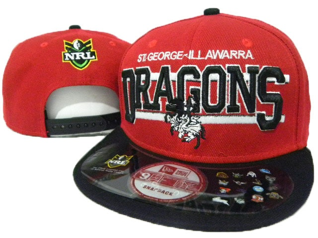 NRL Dragons NE Snapback Hat 02