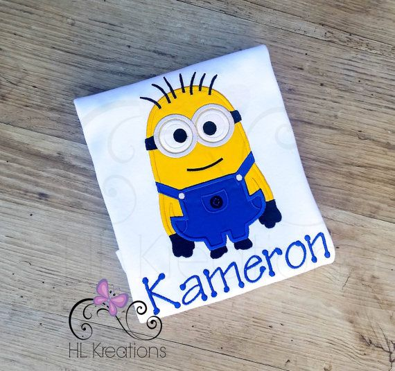 Minion Shirt Minion Birthday Shirt Personalized by HLKreations