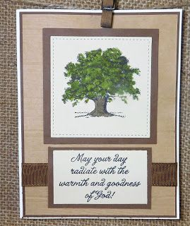PJ's PROJECTS : Challenge 54~Lovely As A Tree.. Stampin UP