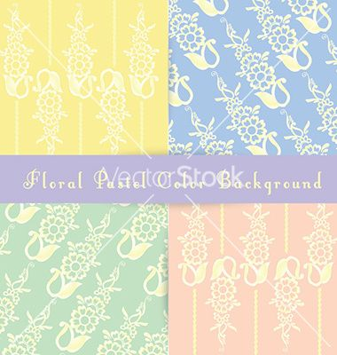 Floral pastel color background vector pattern background in pastel color, easy to use, reziseable, for all templates.