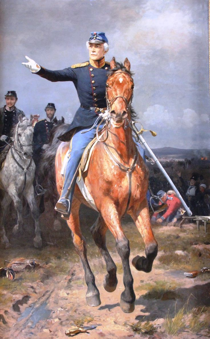 General-Leutenant Krohg ved Isted of Denmark, Schleswig War