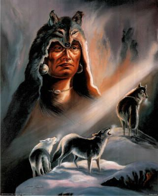 Native American Indian Art Prints | This poster is usually printed with a thin white edge border.