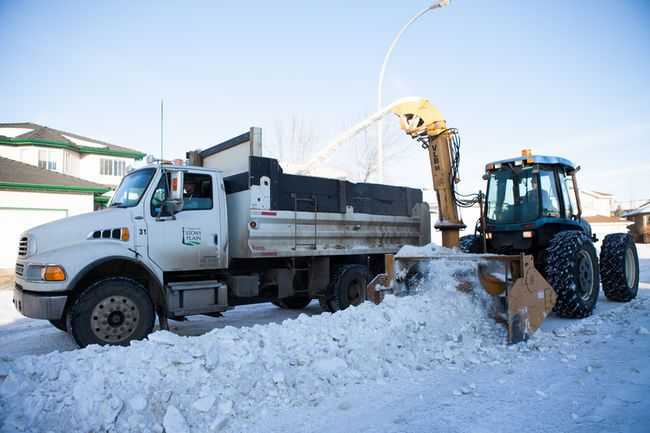 Following the largest snow removal of the season so far, Stony Plain's Public Works department are once again fighting with Mother Nature to complete residential snow removal before it strikes again. - File photo