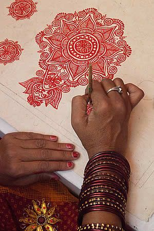 Santa Fe Folk Art Market - nepal_writing