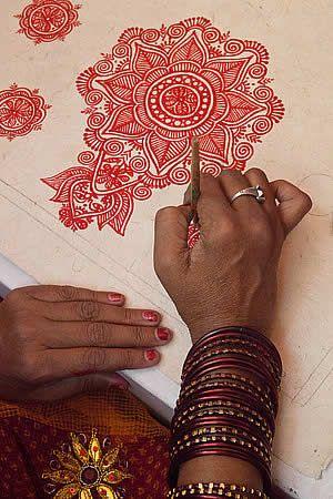 Santa Fe Folk Art Market - nepal writing (henna inspiration)