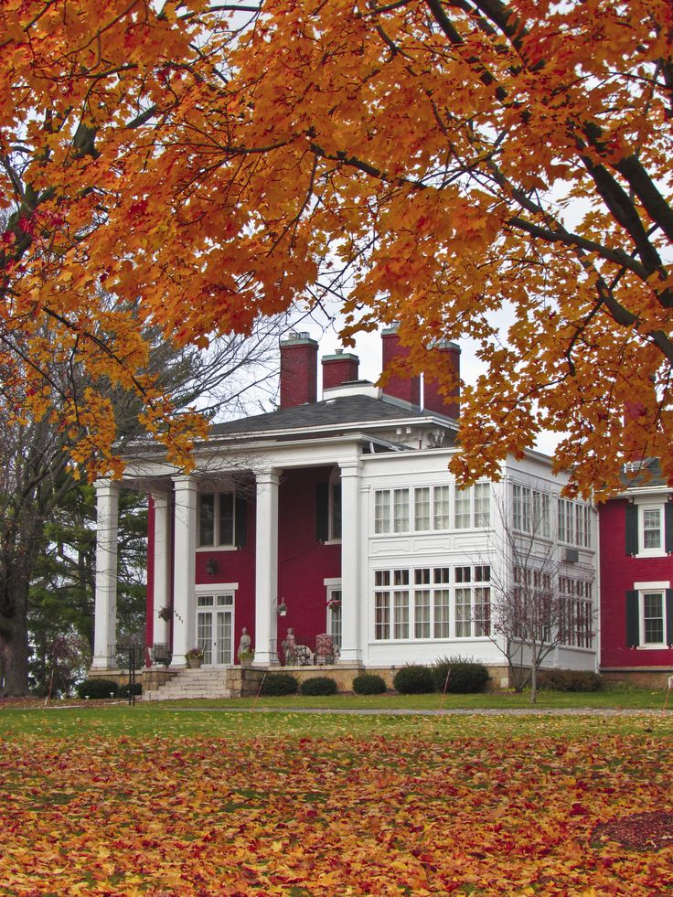 What goes together better than an old home under a canopy of fall colors?  Find. Wisconsin ...
