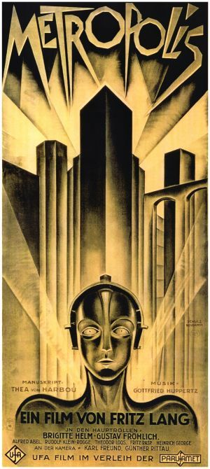Metropolis movie theatrical poster designed by Heinz Schulz-Neudamm.  This was actually a very good movie, and very much ahead of it's time.