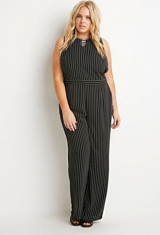 Pinstriped Jumpsuit | Forever 21 PLUS - 2000157353
