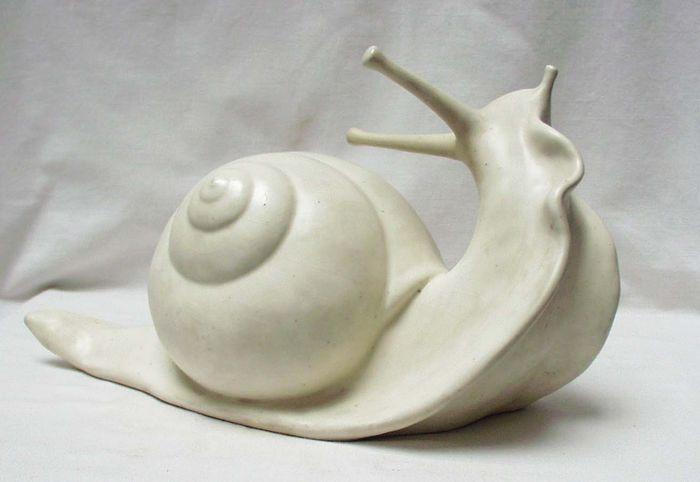 Guido Cacciapuoti (1892-1953) - Glazed earthenware sculpture of a snail