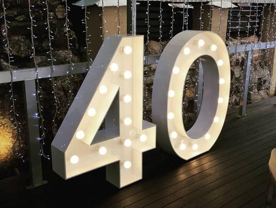 4ft 3ft Large Birthday Numbers 48 Inches Big Giant Marquee Numbers Lights Wedding Numbers Light Up Event Photo Backdrop 30th 40th 21th Telon De Fondo De Cumpleanos Numeros De Cumpleanos Telones