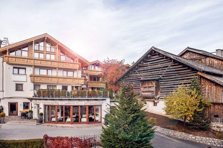 Außenansicht des Alpin Life Hotels Gebhard in Fiss, Tirol