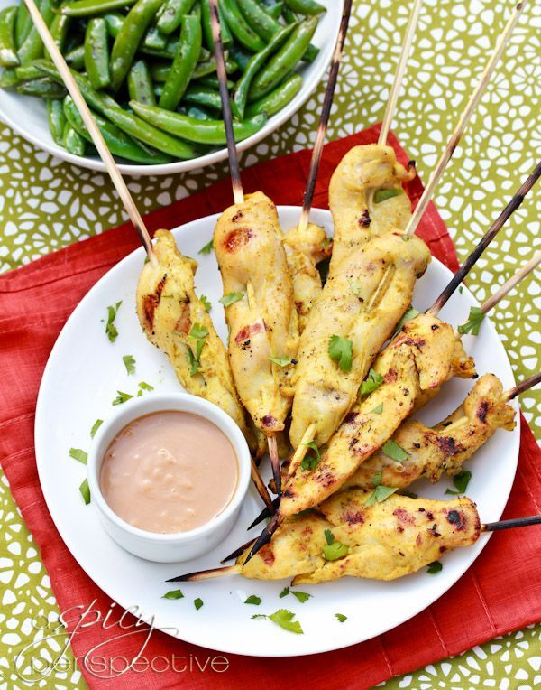 ... Chicken Satay with Spicy Peanut Dipping Sauce | ASpicyPerspective