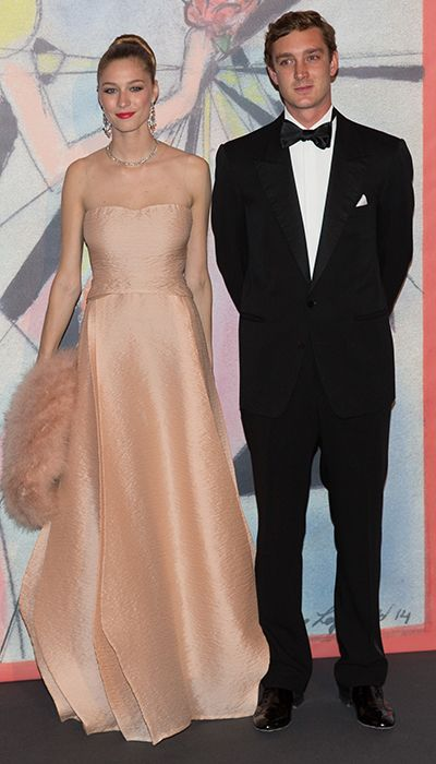March 29, 2014 - Pierre Casiraghi and girlfriend Beatrice Borromeo - Monaco's Royal Family Attended the Rose Ball 2014 in aid of the Princess Grace Foundation