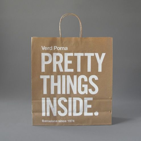 Pretty Things Inside shopping bag #design    CREATIVITY INSIDE
