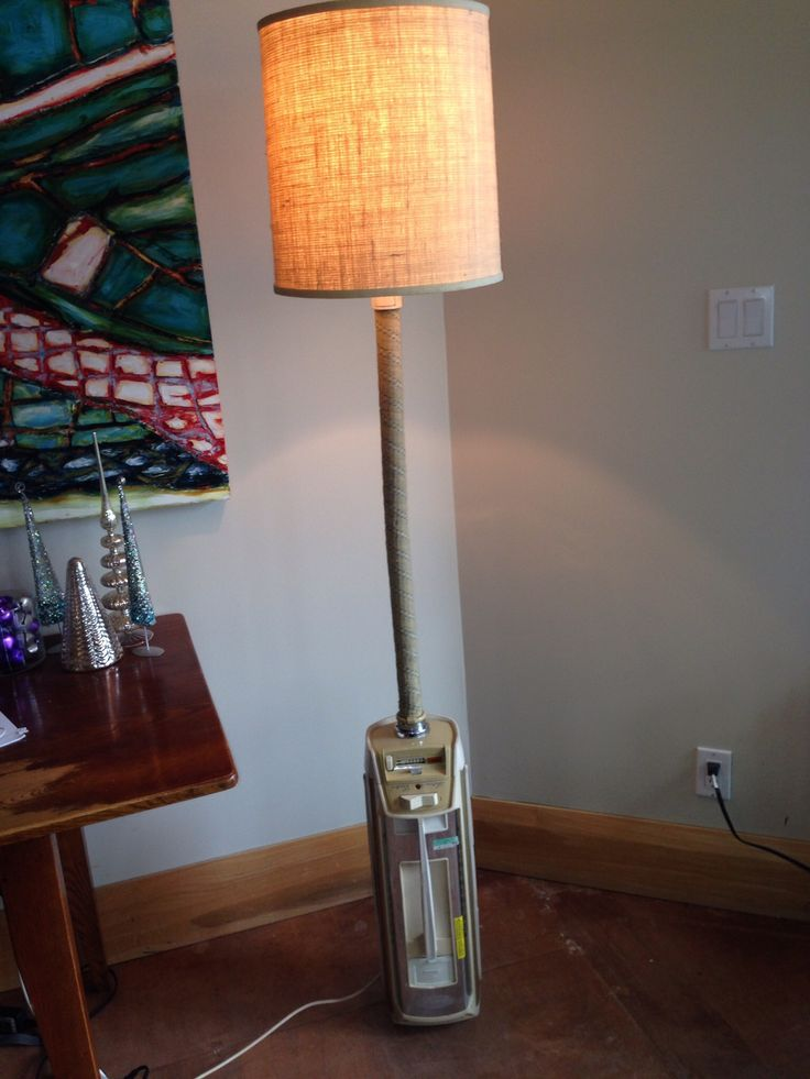 Lamp Upcycled From Vintage Electrolux Vacuum