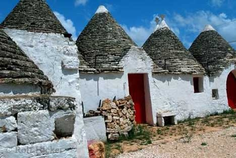 See the Trulli houses in Italy