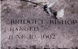June 10th, 1692: Bridget Bishop, hanged for witchcraft during the Salem Witch Trials.