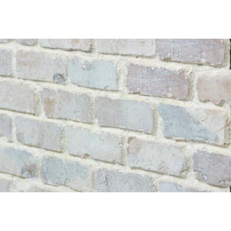Antico Elements Faux Brick Panels Cotton 47 5 In X 27 25 In Panel Brick Veneer Lowes Com Faux Brick Panels Brick Paneling Brick Tile Backsplash