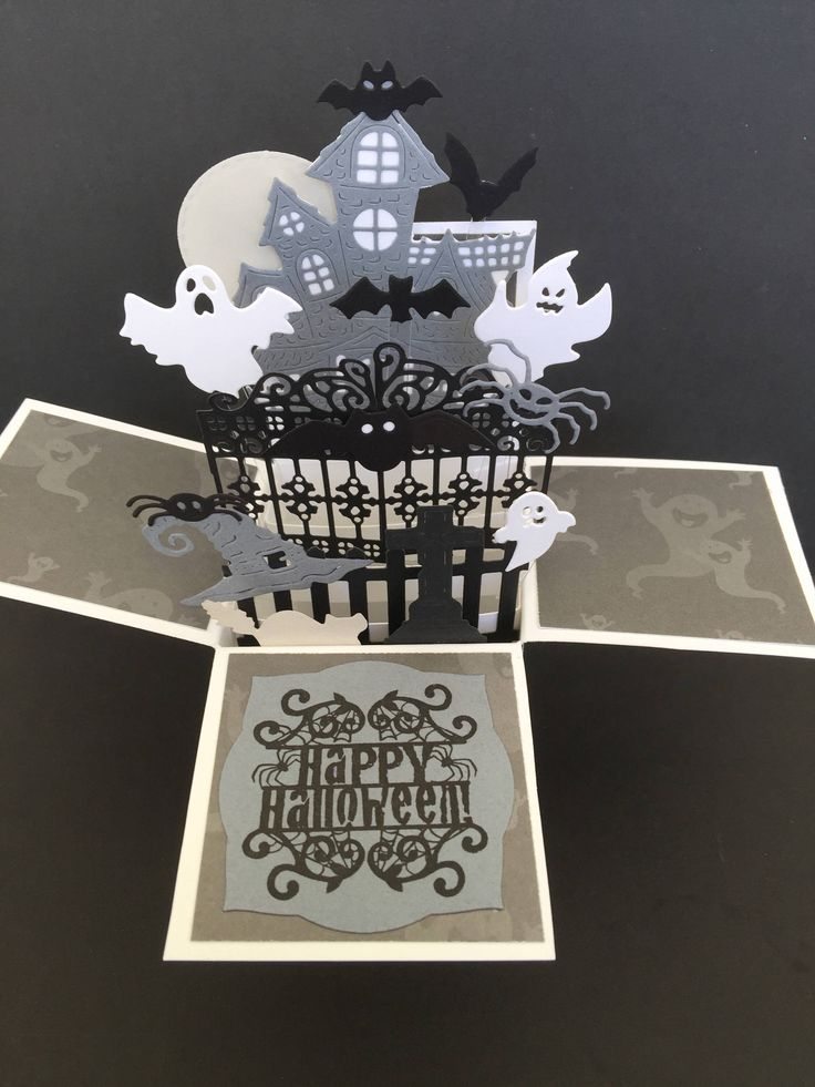 A personal favorite from my Etsy shop https://www.etsy.com/listing/537033648/halloween-pop-up-box-card-happy