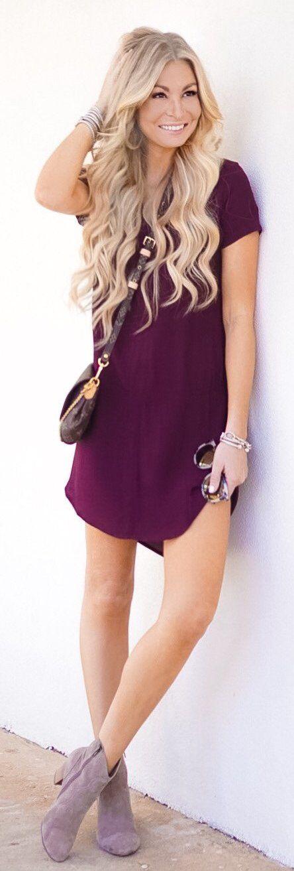 Purple Dress / Light Purple Suede Booties