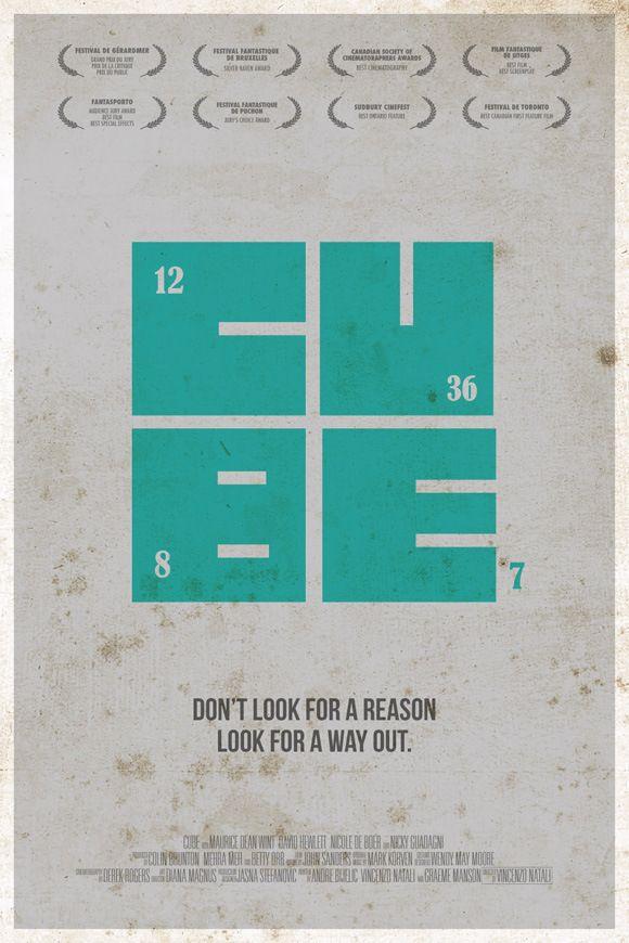 Cube - Minimalist Horror Movie Posters