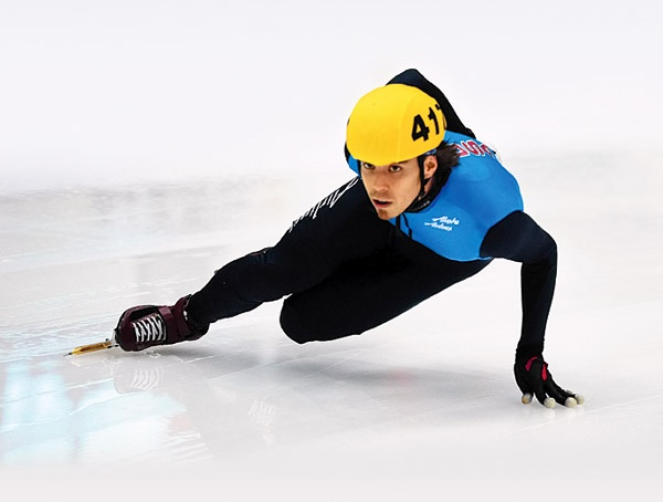 Apolo Ono, now short track icespeed skating; But started on inlines at Federal Way Washington at Pattisons West http//www.pattisonswest.com