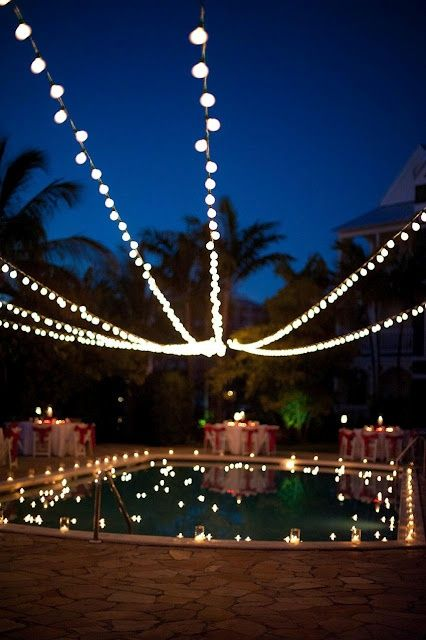 Pool Party Ideas, Décor, Food & Themes with 30+ Pics for 2014 -  				Pool Party Ideas for Decoration at a Night Gathering