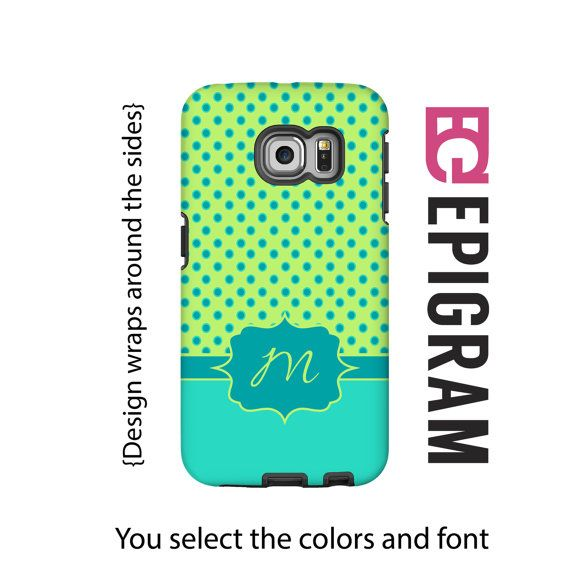 Hey, I found this really awesome Etsy listing at https://www.etsy.com/listing/239282395/monogram-samsung-galxy-s6-edge-case-lime