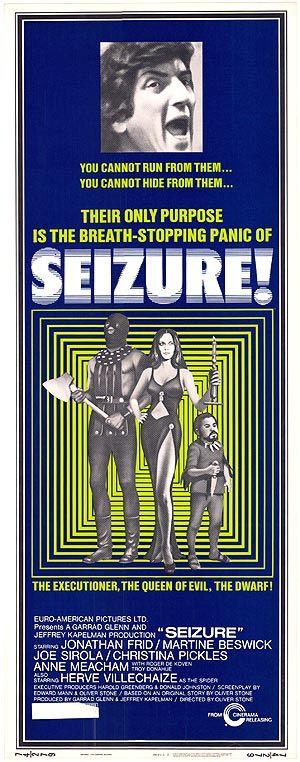 Seizure (1974) Stars: Jonathan Frid, Martine Beswick, Joseph Sirola, Christina Pickles, Hervé Villechaize, Troy Donahue ~ Director: Oliver Stone