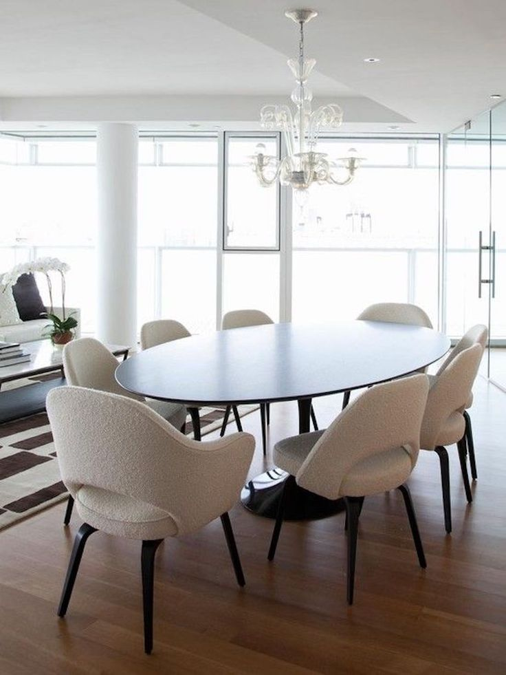 Awesome 15 Astounding Oval Dining Tables For Your Modern Dining Room