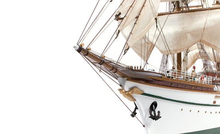 GORCH FOCK. Modelismo naval. Artesanía en madera.