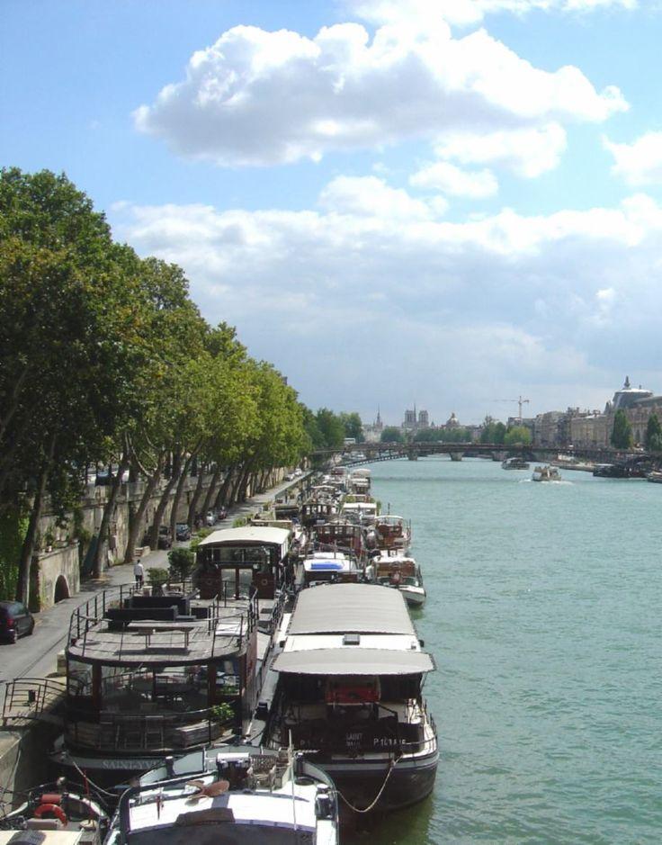 The River Seine, Paris, France.