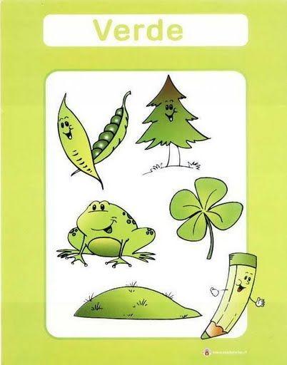 color verde fichas infantiles para aprender los colores imprimir gratis para niños