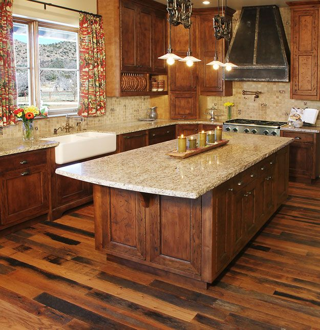 Ranch House Kitchen   More Kitchen Ideas, Love The Floors, Cabinets, And  Countertop! I Donu0027t Really Want Wood Floors Anymore, But This Is Nice