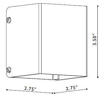 FX Luminaire TC Light Fixture Dimensions   These Are Mounted On To Beams In  Arbors /