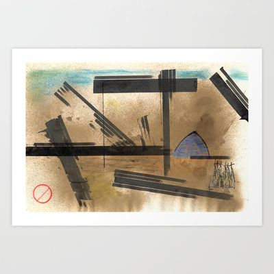 Barcelona Art Print by Plasmodi - $16.00