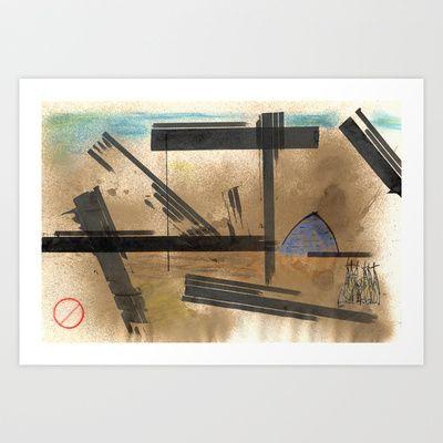 Barcelona Art Print by Plasmodi - $16.00