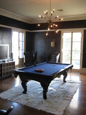 Would Like An All Black Pool Table Interior In 2018 Pinterest Room And