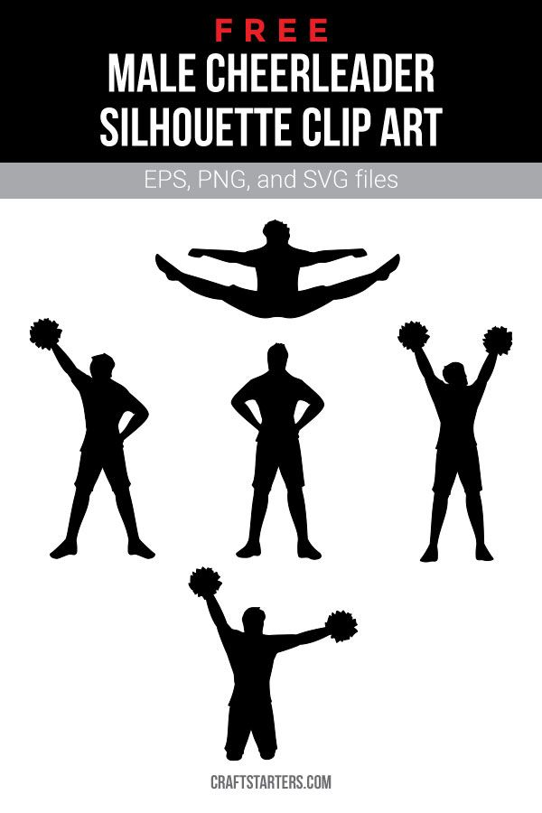 Download Free male cheerleader silhouette clip art (personal use ...