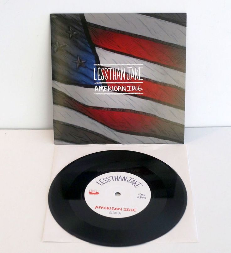 "LESS THAN JAKE american idle , late night 7"" Record , ska punk Vinyl , fat wreck #punkSkaPunkNewWave"