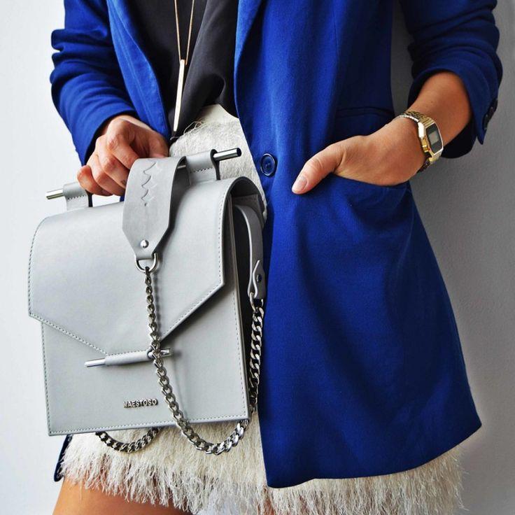 Architectural  Leather bag - romanian designers. Shop online on SAASH