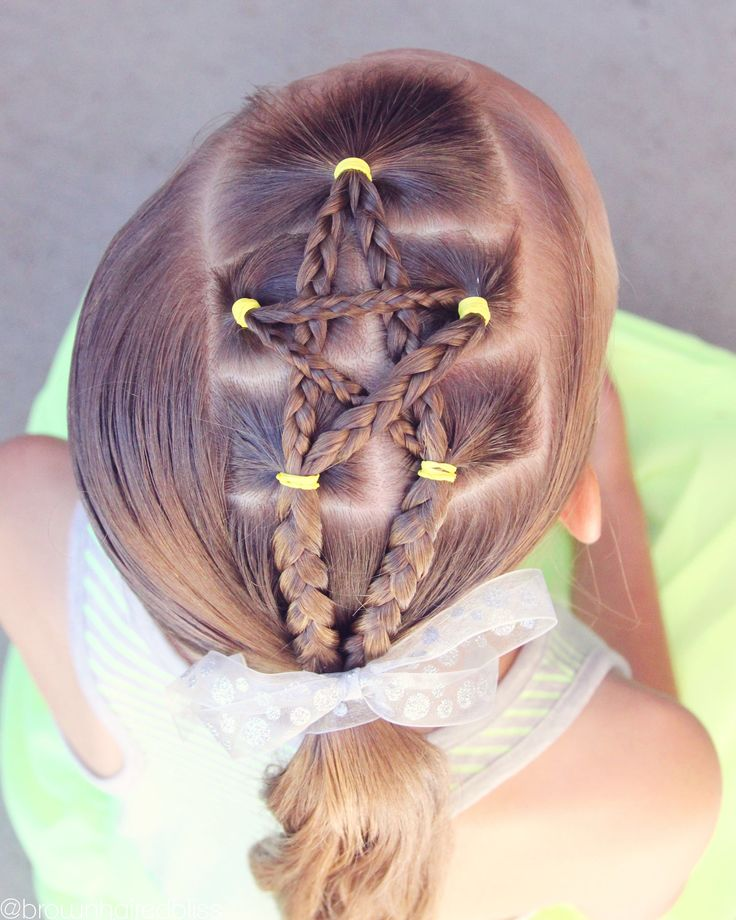 4th of July Star Hairstyles - Hair inspiration for the 4th of July!  Star hairstyles!