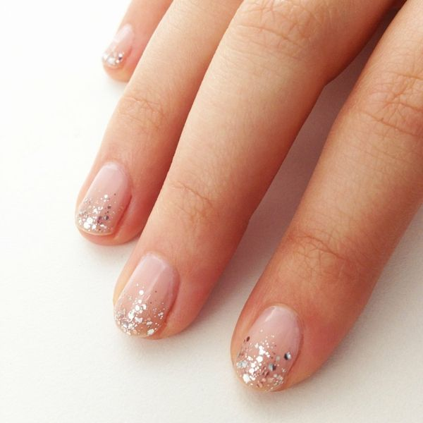 nägel, nails, paznokcie, nail art, nail design, manicure. schlichtes design mit glitzer