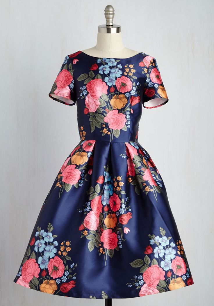 Get rid of the sleeves and you would have a nice base! English Garden Getaway Dress, @ModCloth