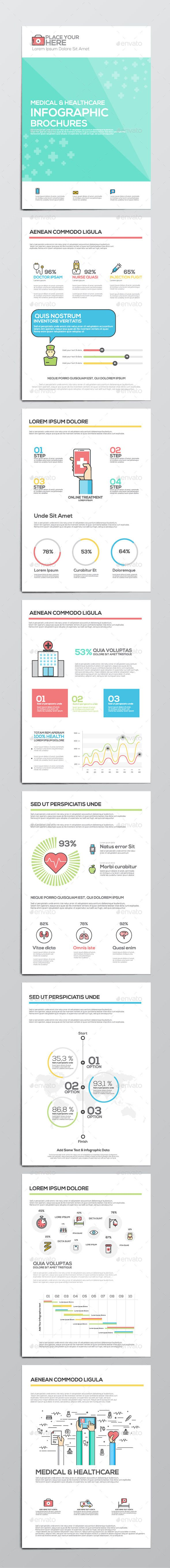 Medical and Healthcare Infographics Elements Template for Corporate Brochures…