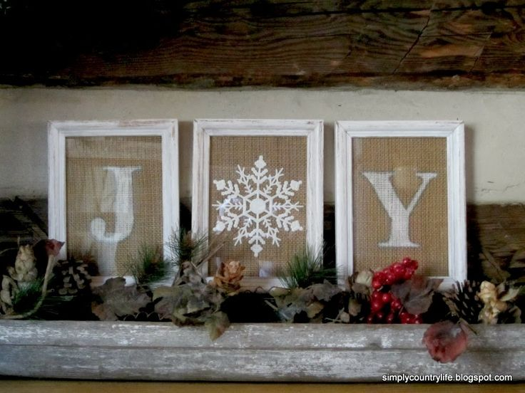 DIY Burlap Christmas sign made from a Dollar Tree ornament and frames.